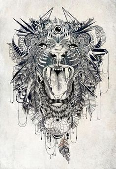 Lion - A gallery-quality illustration art print by Feline Zegers for sale.