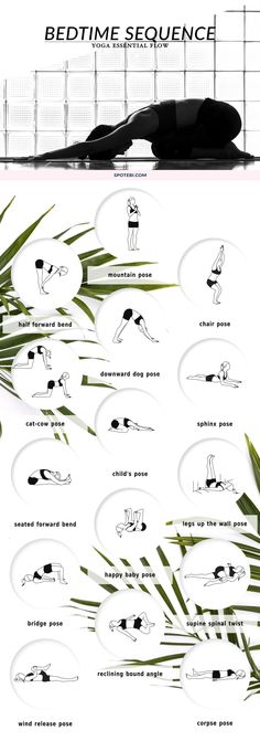 Beat insomnia and boost relaxation with our bedtime essential flow. A 12 minute yoga sequence perfect to soothe your mind and body before bed. Put on your coziest PJs, grab a cup of chamomile tea and unwind! http://www.spotebi.com/yoga-sequences/bedtime-soothing-flow/ 1 Yoga Tip For a Tiny Belly...
