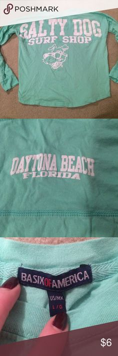 Salty dog spirit jersey Great condition! Spirit jersey from salty dog in Daytona beach Florida! I believe this is a kids large but would be awesome for an adult xs! salty dog Tops Tees - Long Sleeve