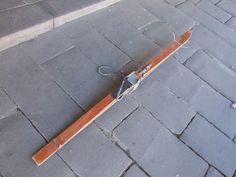 Vintage wooden skis from Europe. Kabinett Vintage, Piper St, Kyneton.
