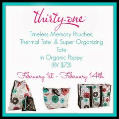 Thirty-One Giveaway Ends 2/14