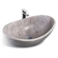 Unik Stone Sink : Unik Stone LMS-010 Classic Collection Stone Vessel Sink