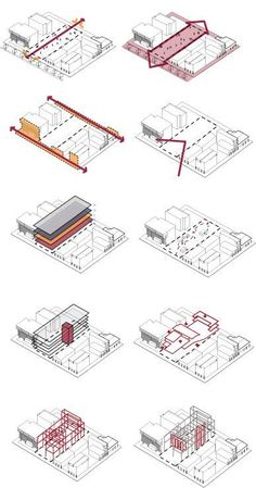 Axonometrische Analyse - Diagrama - Architektur - Dress Models - The Effective Pictures We Offer You About World History chart A quality picture Model Architecture, Collage Architecture, Architecture Design Concept, Architecture Drawing Plan, Architecture Graphics, Green Architecture, Sustainable Architecture, Architecture Diagrams, Site Analysis Architecture
