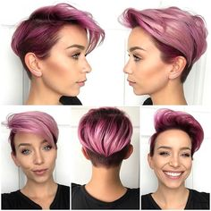 The latest #pixie360 of my cut & color by @thisgirlmichele! The cut is symmetrical on both sides and she uses shears on the back- no clippers. Color is all from @pulpriothair