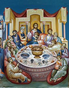 Orthodox Catholic, Orthodox Christianity, Byzantine Icons, Byzantine Art, Christ Pantocrator, Last Supper, Religious Icons, Orthodox Icons, Christian Art