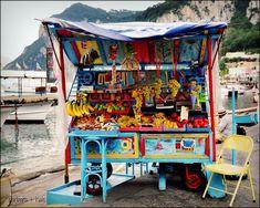 Food cart on the Isle of Capri, Italy Food cart on the Isle of Capri, Italy Italian Street Food, Isle Of Capri, Italy Food, Capri Italy, Eurotrip, World Of Color, Sorrento, Positano, Amalfi Coast