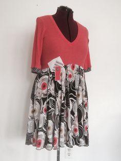 Upcycled knit dress