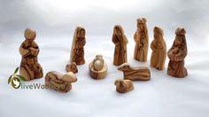 Holy Land Olive wood nativity set hand carved Christmas tree nativity set 11Pc holy family