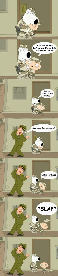 Brian and Stewie trying to get kicked out of the ARMY :)