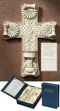 7.5 Inches High, Resin, Baptism Gift Cross, Accompanied By a Presentation Certificate by Tomaso Crosses of Distinction, http://www.amazon.com/dp/B0051OI520/ref=cm_sw_r_pi_dp_3ShIpb0F6W32C $20.74