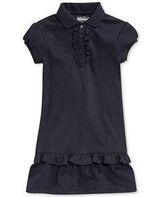 Nautica Little Girls' Uniform Polo Ruffle Dress - Kids - Macy's
