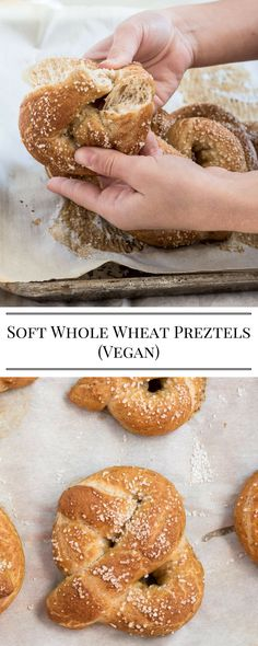 These soft whole wheat pretzels can be made in about an hour. Love this for family movie night!