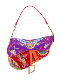 Christian Dior Embroidered Saddle Bag