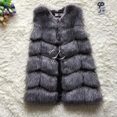 1f772d6795 CP Brand Faux Fur Vest Winter Warm Long Women Faux Fox Fur Vest Furry Slim Woman  Fake Fur Vest Plus Size Fur Vests High Quality-in Faux Fur from Women's ...