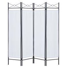 Best Choice Products Home Accents 4 Panel Room Divider- White