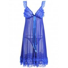Fashion Clothing Site with greatest number of Latest casual style Dresses as well as other categories such as men, kids, swimwear at a affordable price. Elegant Lingerie, Blue Lingerie, Babydoll Lingerie, Women Lingerie, Lace Ruffle, Ruffles, Valentines Lingerie, Clothing Sites, Night Gown