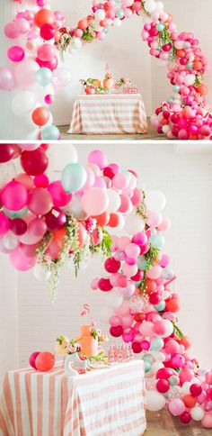 Make a Balloon Arch | Click Pic for 35 DIY Baby Shower Ideas for Girls | DIY Baby Shower Food Ideas for Girls