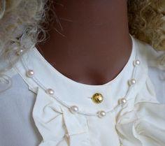 Braut Collie Topas Akoya Perle Halskette von MorgentauSchmuck