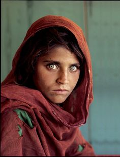 "Afghan Girl by Steve McCurry. Steve McCurry is an American photojournalist best known for his photograph ""Afghan Girl"" which originally appeared in National Geographic. Famous Portraits, Famous Photos, Iconic Photos, Famous Faces, Amazing Photos, Beautiful Pictures, Celebrity Portraits, 4 Photos, Rare Photos"