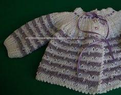 Boa Noite amigas !! Trouxe um novo casaquinho decrochê.  Para tece-lo usei o fio Baby. Tomei por base a receita  que posto logo abaixo. Est...