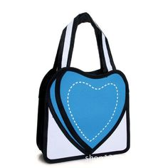 2D Cartoon Style Drawing - Heart Shape Purse