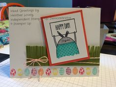 Stampin up occasions catalog 2015 easter card critters.