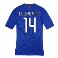 Juventus FC 2014-2015 season Llorente #14 Away Blue Jersey