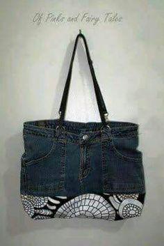 cc8c6a68e Bag Reciclaje De Ropa, Reciclar Jeans, Como Hacer Carteras, Carteras Y  Bolsos,