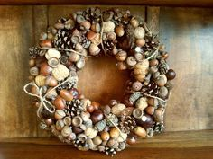 Handmade Christmas wreath 34 cm /door/table/candle/natural/eco/ rustic style | eBay