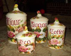 Vintage Italy Kitchen Canister Set