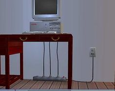 Mod The Sims - *By Request* A surge protector and a plugged in cord for electronics