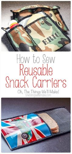 Making snack carriers, or snack envelopes, for transporting food on the go is a…