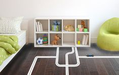 For the floor!! Play Roads Streets  Wall Decal Custom Vinyl Art by danadecals, $32.00