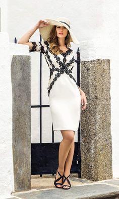 43e2e509 Michaela Louisa 8805 Dress A signature monochrome creation from the Michaela  Louisa collection, this stylish