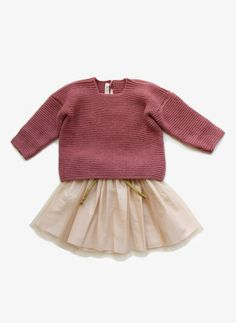 Babe Tess Girls Wool knitted Sweater - ML 5 - FINAL SALE