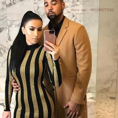 ==> [Free Shipping] Buy Best striped summer Long Sleeve celebrity summer dress 2016 balmai Women Black Yellow Sexy gold Luxury Lady Party Bodycon Dresses Online with LOWEST Price | 32775319672