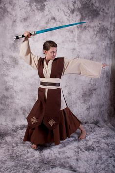Female Star Wars Costume Tunic Skirt set jedi Halloween Custom made Cosplay. via Etsy.