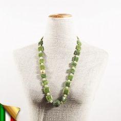 CollanaEbe Verde, in perle, giada e crisocolla, made in Italy, limited edition