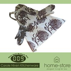 Spoil your mother this Mother's Day with Carole Niven kitchen ware available at Home-Store. Hurry, there are only 9 days left until