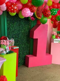First Birthday Party Themes, 5th Birthday, Watermelon Birthday Parties, One In A Melon, Bday Girl, First Birthdays, Watermelon Patch, Families, Party Ideas
