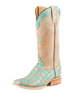 "Tin Haul Western Boot Womens 13"" No Evil Checker 14-021-0007-1277 MU #TinHaul…"
