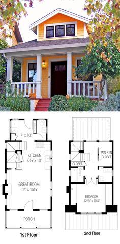 Tiny House from Tumbleweed Tiny House Company Cottage Style House Plans, Cottage Plan, Tiny House Cabin, Small House Plans, Cottage Homes, Small Floor Plans, Sims 4 House Design, Tiny House Design, Sims House Plans