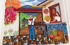 Boradado-Guatemalteco-2 Manado, Embroidery Designs, Beautiful Pictures, Painting, Scrappy Quilts, Crewel Embroidery, Hand Embroidery Art, Crochet Bags, Canvases