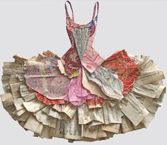 musical paper dress