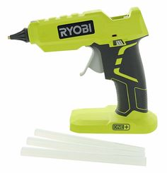 Ryobi One+ Lithium Ion Cordless Hot Glue Gun w/ 3 Multipurpose Glue Sticks (Battery Not Included / Power Tool Only)