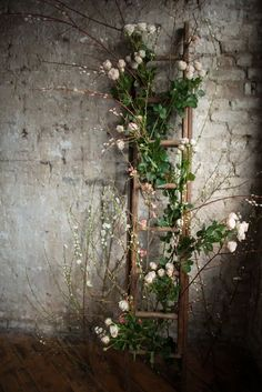 beautiful pictures of flower entwined rustic ladder wedding decor shanna melville bridal ballet in hd 2017 2018 Deco Floral, Floral Design, Ladder Wedding, Wedding Rustic, Trendy Wedding, Wedding Vintage, Industrial Wedding Decor, Forest Wedding, Barn Weddings