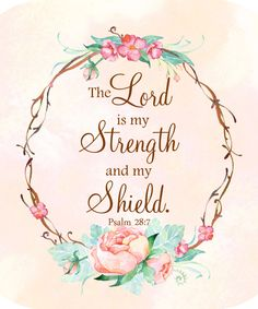 Peonies Mouse Pad, Psalm Mouse Pad, Floral Wreath, Mint and Pink, The Lord is My Strength and My Shield Psalm 28:7, Christian Mouse Pad by GmaCustom4You on Etsy