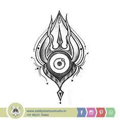 Hindu Tattoos, God Tattoos, Forarm Tattoos, Tatoos, Crewel Embroidery, Embroidery Designs, Krishna Tattoo, Mahadev Tattoo, Trishul Tattoo Designs