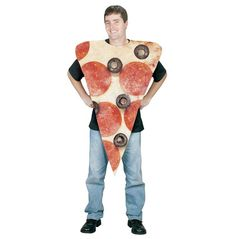 Be Hot N Ready this Halloween in this Pizza Slice Adult costume. Have more fun as a piece of food! Pizza is one of the greatest foods of all time. What better way to have a great Halloween than to go as a slice of your favorite food? Look fresh when you walk into your Halloween party in this Pizza Slice Adult costume.