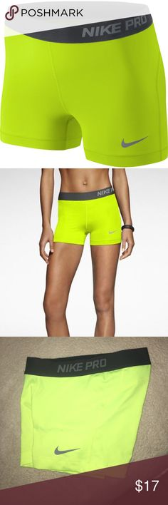 NIKE PRO PERFECT CONDITION NEVER WORN. These are so vibrant and fun! Perfect condition, fit true to size Nike Shorts